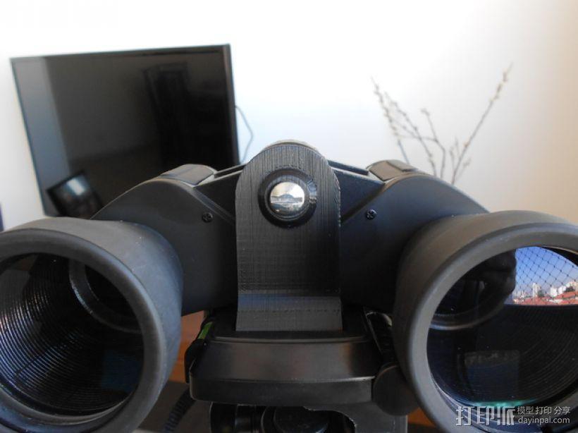 双筒望远镜 三脚架适配器  3D模型  图4