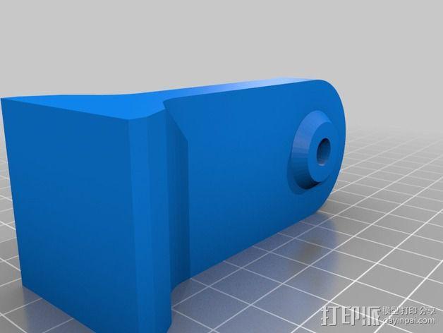双筒望远镜 三脚架适配器  3D模型  图2