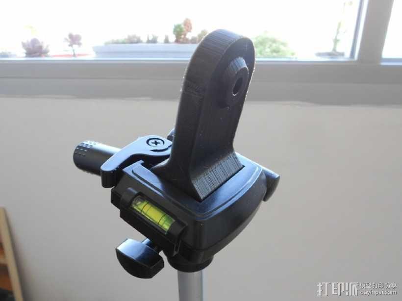 双筒望远镜 三脚架适配器  3D模型  图3