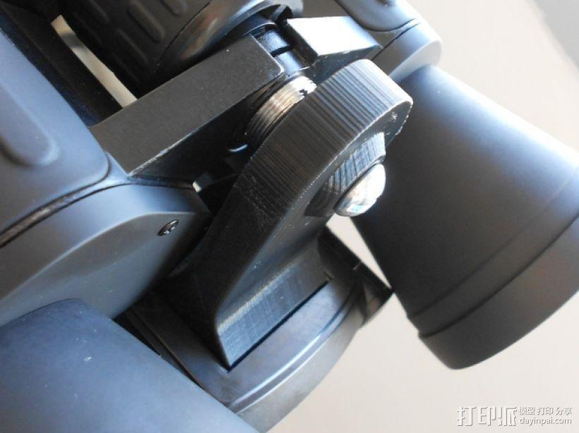 双筒望远镜 三脚架适配器  3D模型  图5