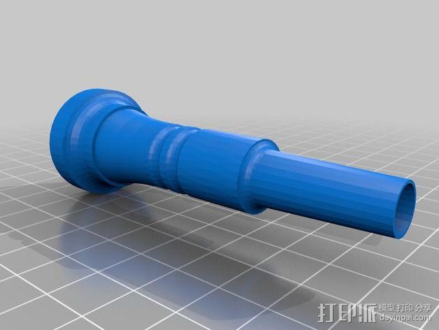 小号 号嘴 3D模型  图2