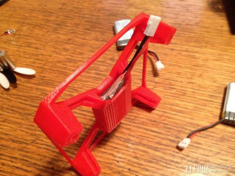 Hubsan X4多轴飞行器 相机支架 3D模型  图4