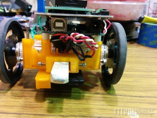 机器人探测器安装支架 3D模型  图3