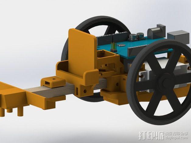 机器人探测器安装支架 3D模型  图2