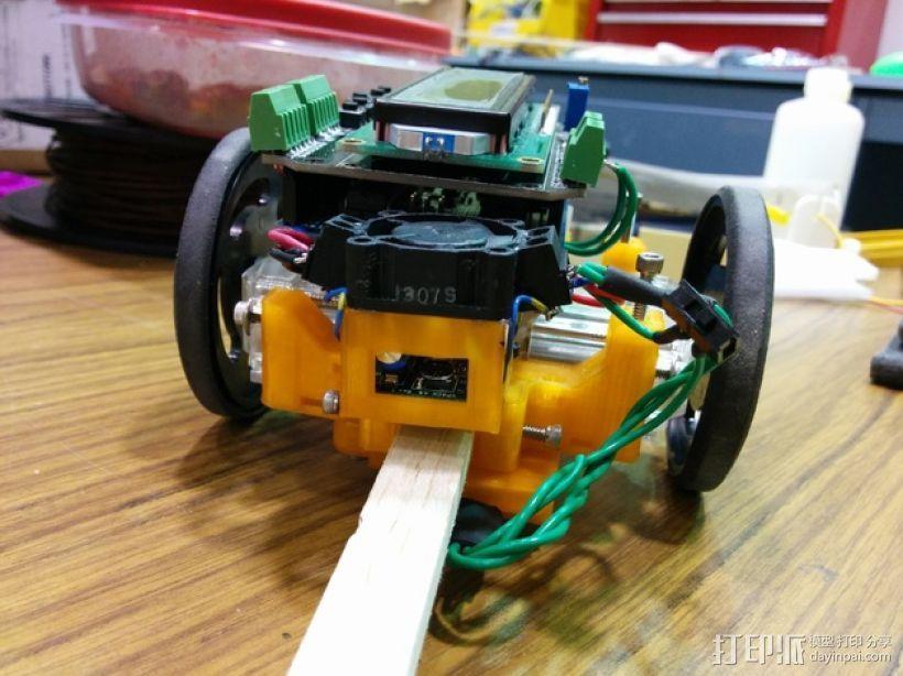 机器人探测器安装支架 3D模型  图1