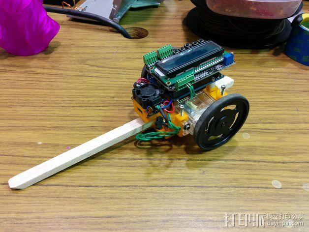机器人探测器安装支架 3D模型  图4
