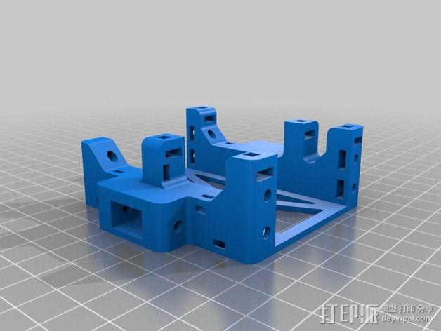 机器人探测器安装支架 3D模型  图7