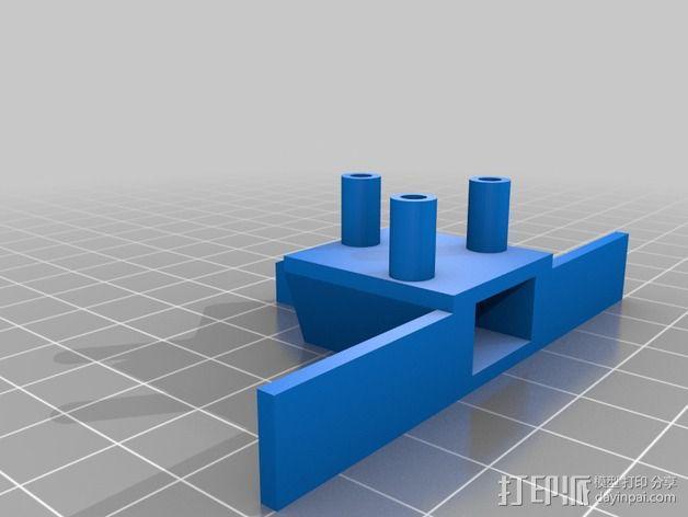 机器人探测器安装支架 3D模型  图8