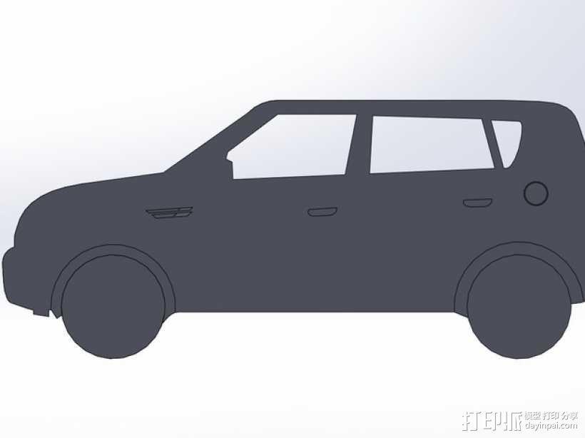 起亚秀尔汽车 2D模型 3D模型  图1