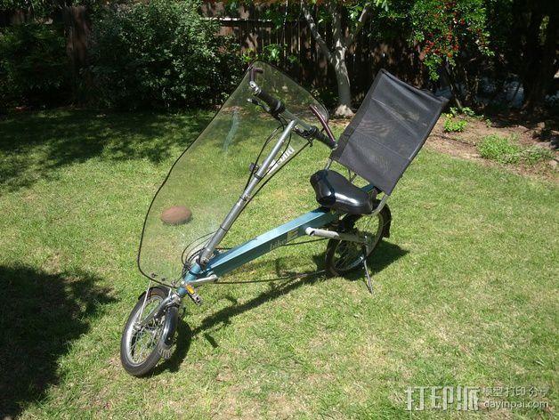 自行车 躺椅夹 3D模型  图4