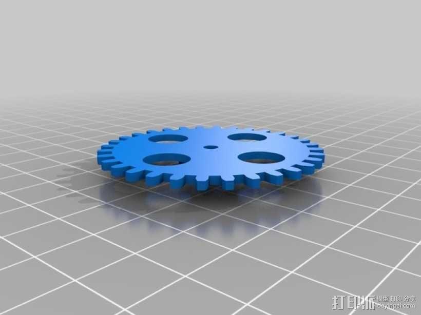 手摇发电机 3D模型  图2