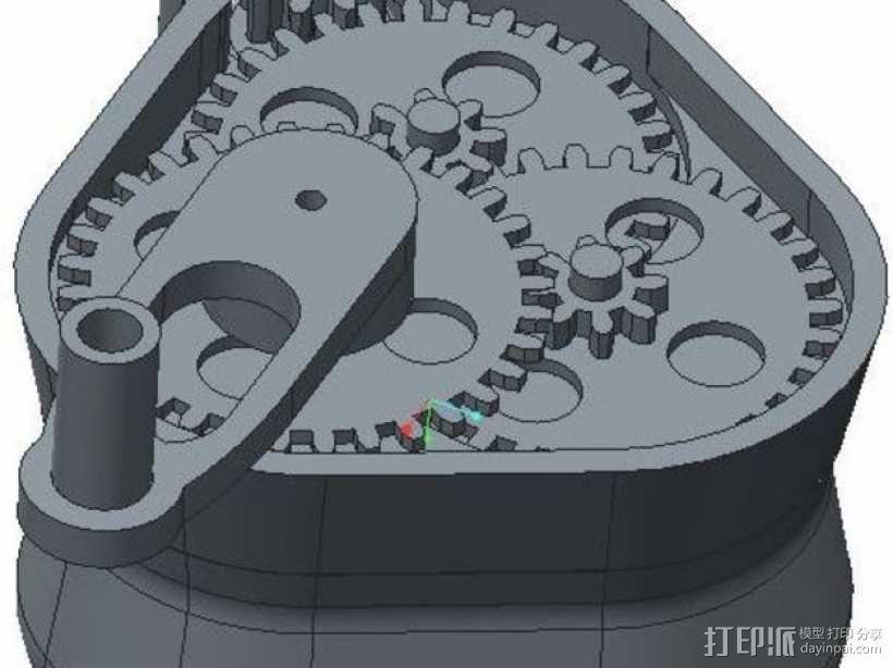 手摇发电机 3D模型  图8