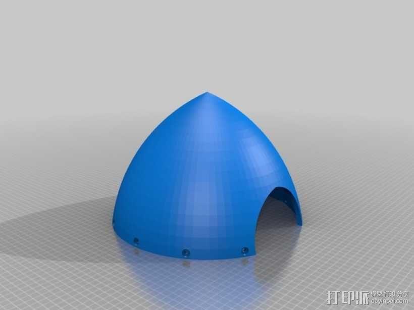 飞机螺旋桨整流罩 3D模型  图2