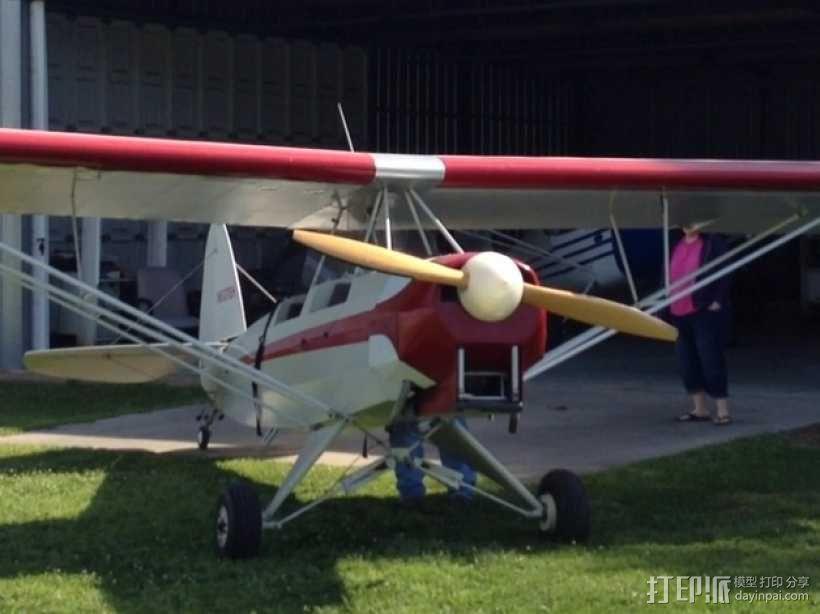 飞机螺旋桨整流罩 3D模型  图1