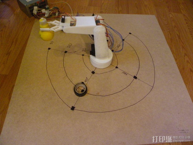 AURA机械臂零部件 3D模型  图1