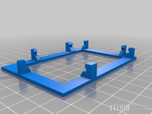 树莓派底座 3D模型  图2
