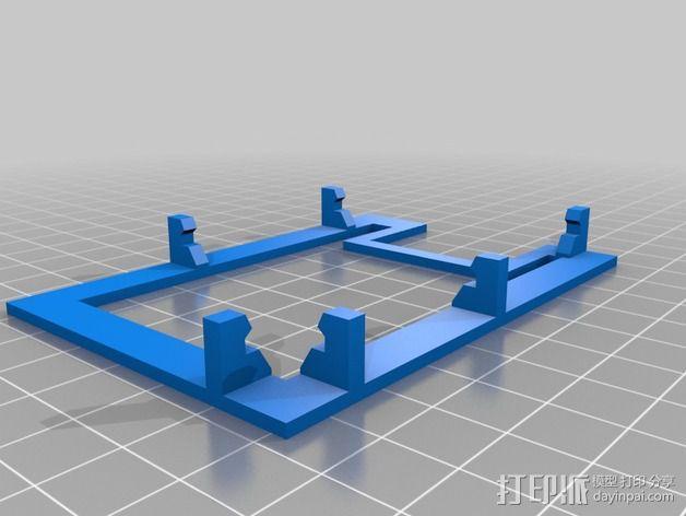 树莓派底座 3D模型  图3