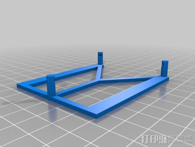 Arduino电路板底座 3D模型  图2
