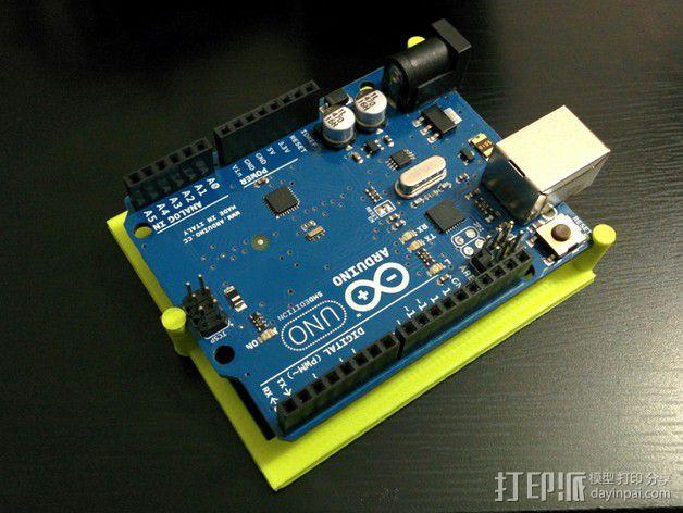Arduino电路板底座 3D模型  图1