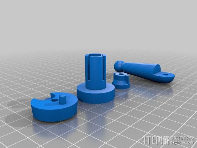 自行车反射镜固定架 3D模型  图3