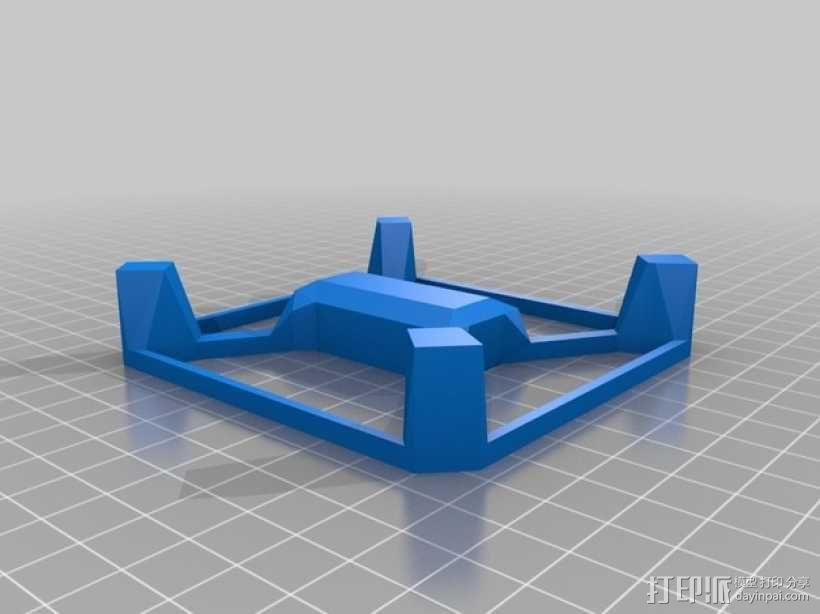 Hubsan多轴飞行器 相机支架 3D模型  图1