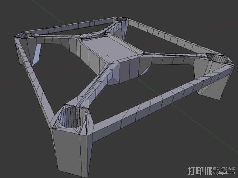 Hubsan多轴飞行器 相机支架 3D模型  图3