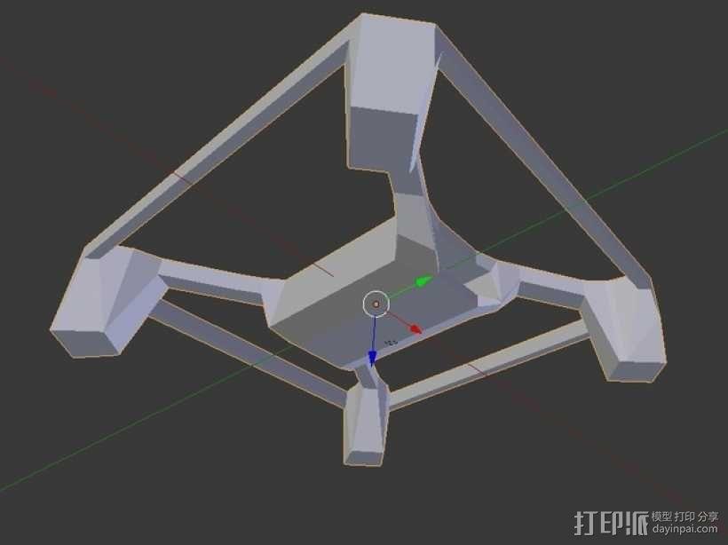 Hubsan多轴飞行器 相机支架 3D模型  图4