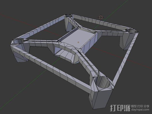 Hubsan多轴飞行器 相机支架 3D模型  图2