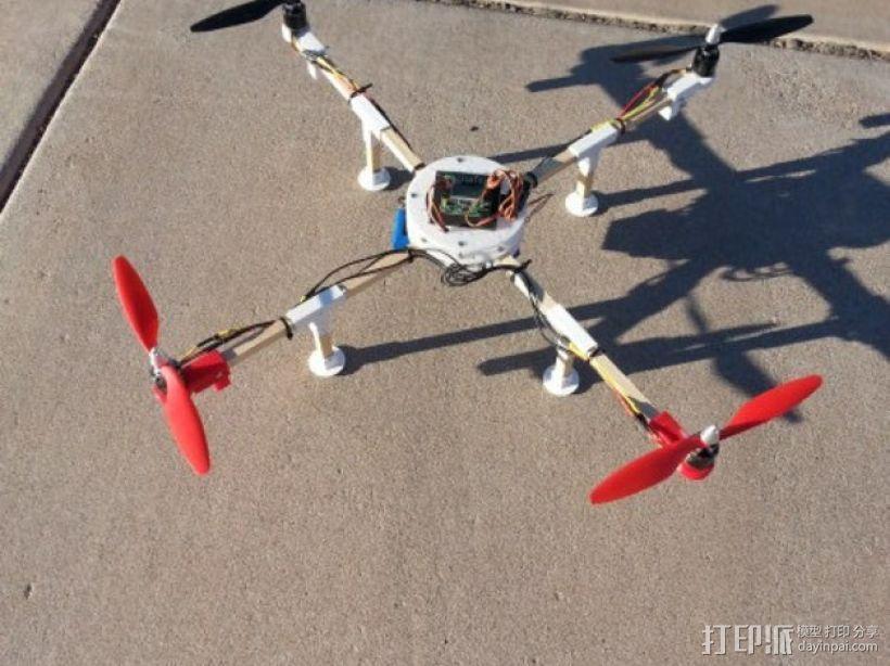 四轴飞行器 马达架 3D模型  图1