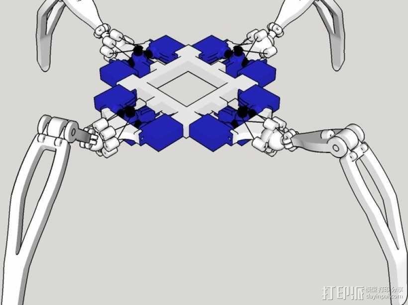 四足机器人 3D模型  图2