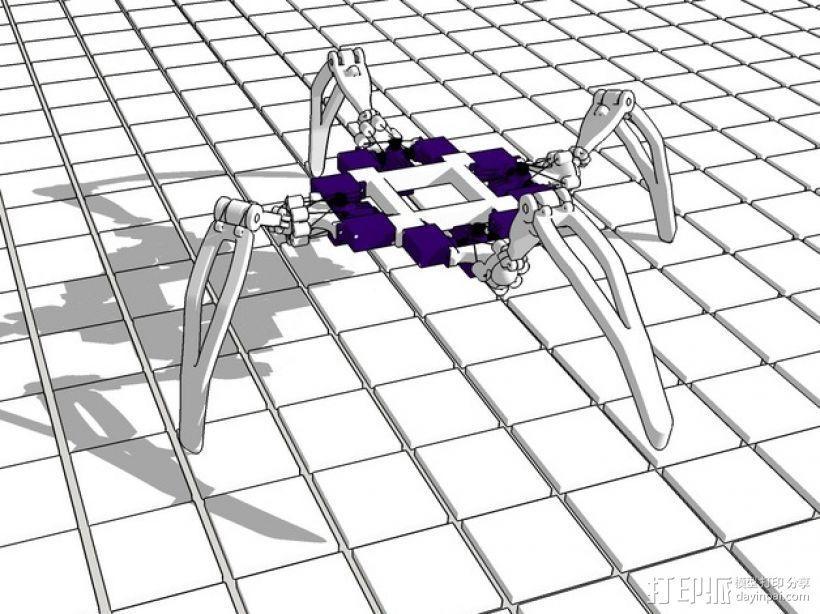 四足机器人 3D模型  图1