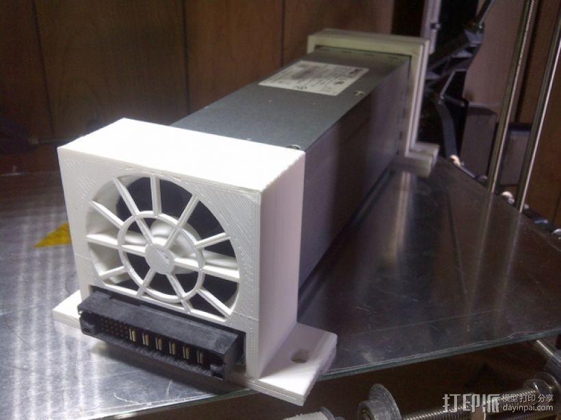 电源风扇安装支架 3D模型  图1
