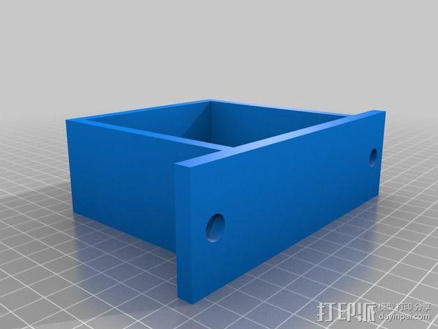 电源风扇安装支架 3D模型  图3