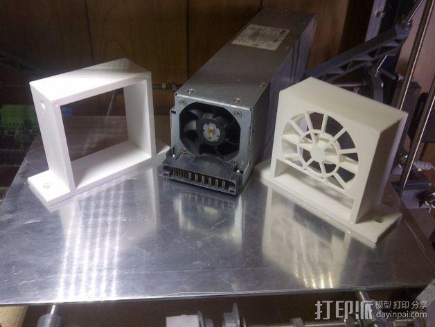 电源风扇安装支架 3D模型  图5
