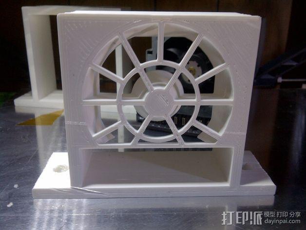 电源风扇安装支架 3D模型  图7