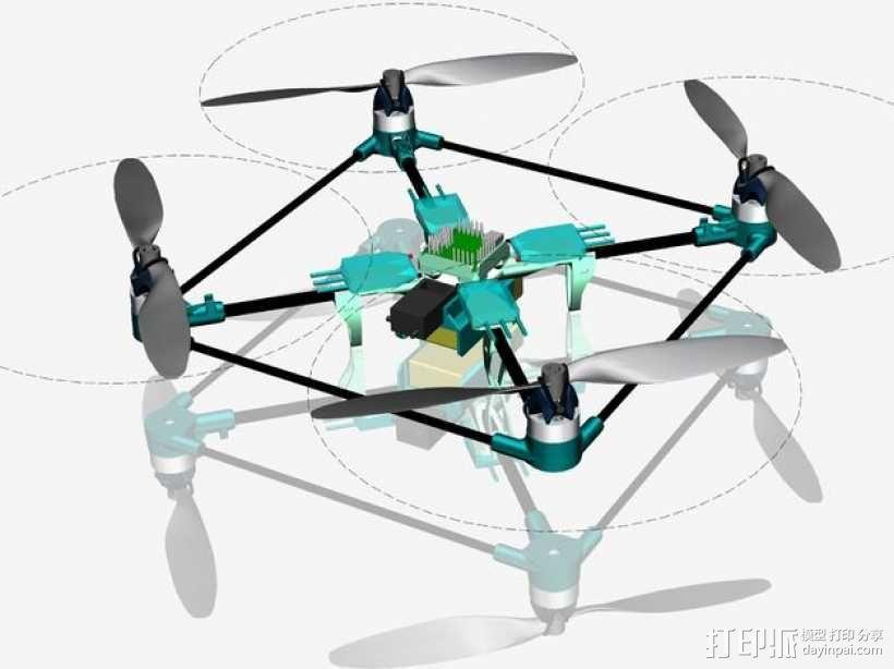 迷你四轴飞行器 3D模型  图1