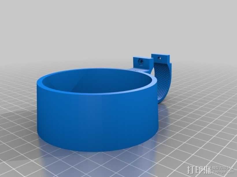 自行车 咖啡杯支架 3D模型  图2
