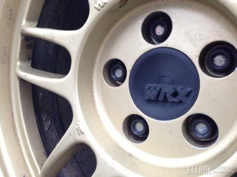 汽车轮胎中心盖 3D模型  图1