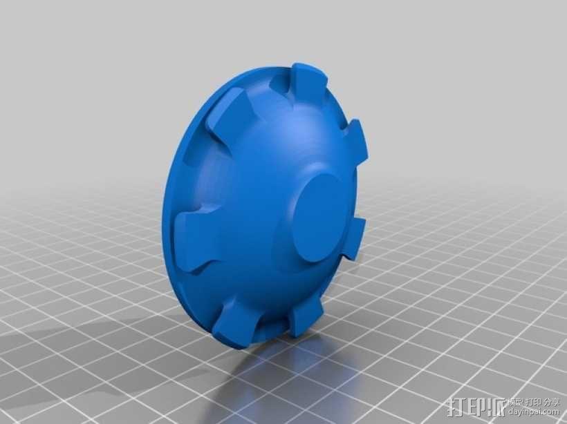 汽车轮胎中心盖 3D模型  图3