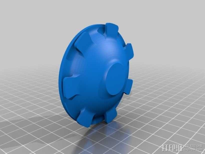 汽车轮胎中心盖 3D模型  图4