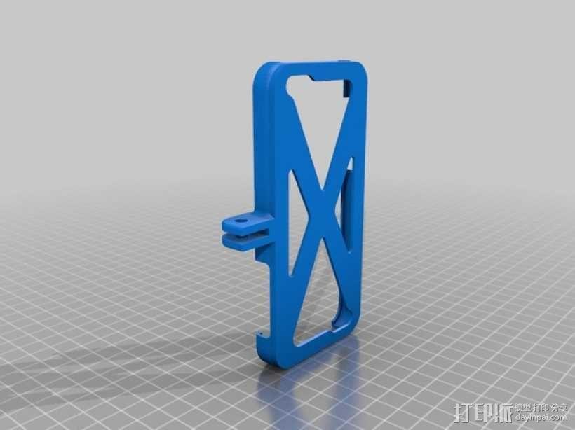 自行车 iPhone 5C手机支架 3D模型  图1