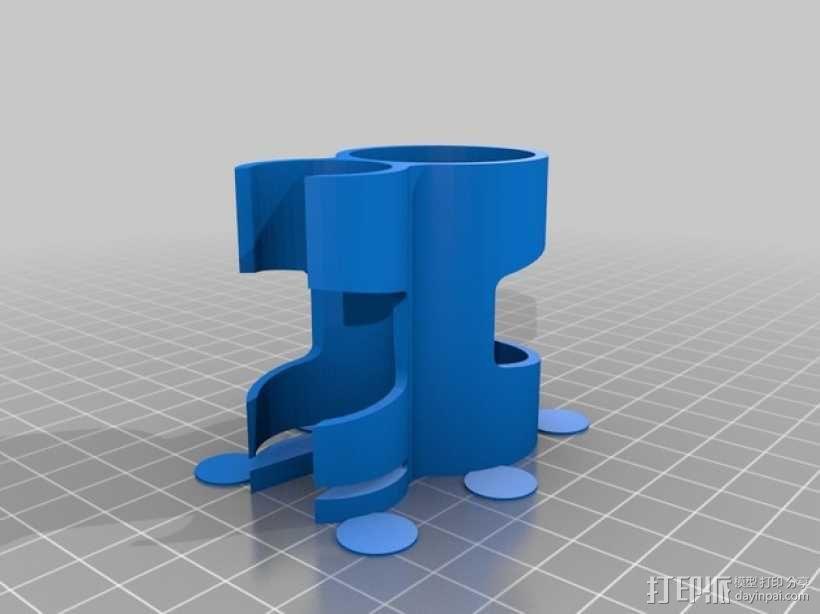 自行车打气筒支架 3D模型  图3