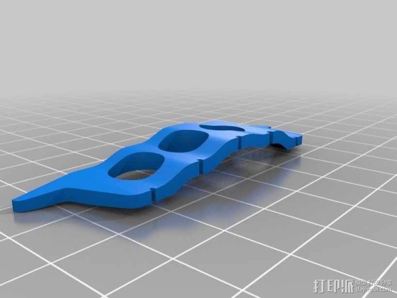 五弦琴 琴桥和拇指拨子 3D模型  图3