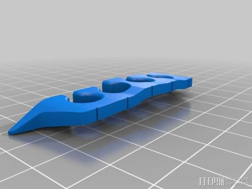 五弦琴 琴桥和拇指拨子 3D模型  图4