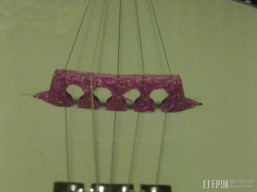 五弦琴 琴桥和拇指拨子 3D模型  图6