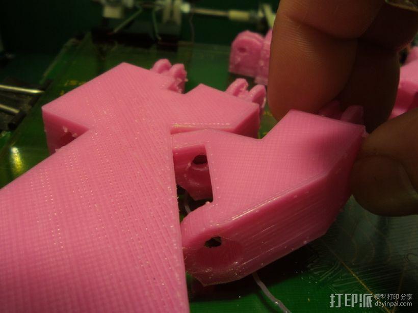 InMoov机器人左手部分 3D模型  图4