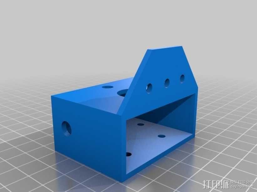 多轴飞行器 附加重量架 3D模型  图2