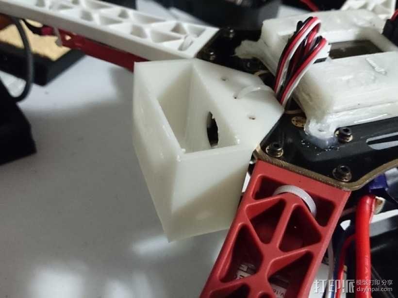 多轴飞行器 附加重量架 3D模型  图1