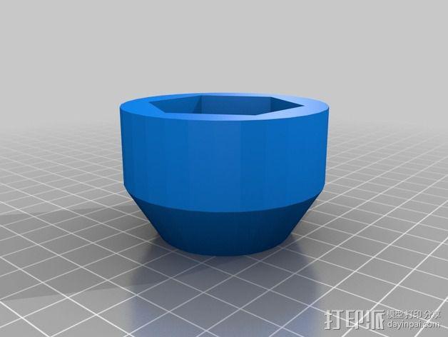宝马汽车 加机油孔 3D模型  图3