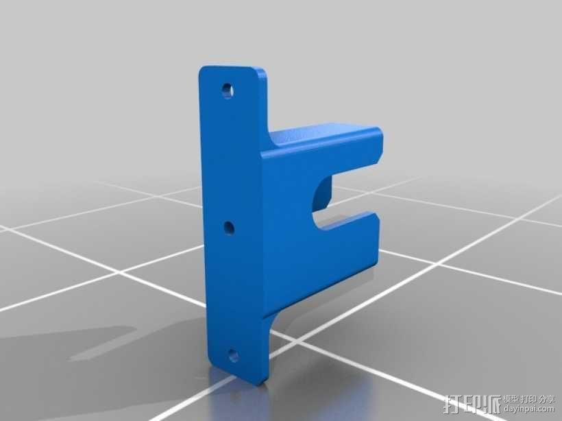超声传感器支架 3D模型  图1